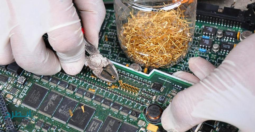 طرح تولید طلا و نقره از طريق بازيافت ضايعات الكترونيكی