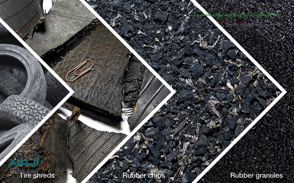 خط بازیافت تایر و تولید پودر لاستیک و کفپوش
