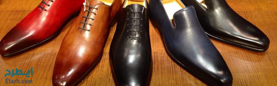 فرآیند تولید کفش چرمی مردانه