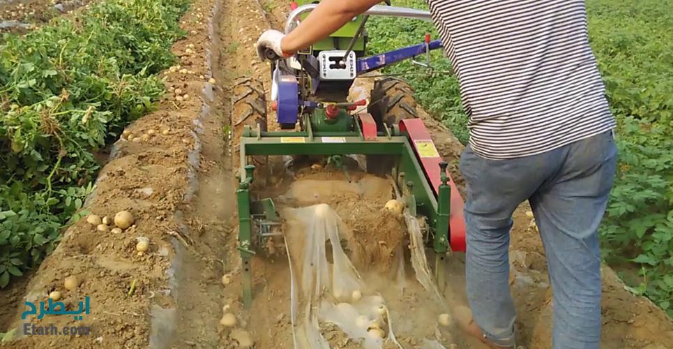 طرح تولید دستگاه کمباین سیب زمینی