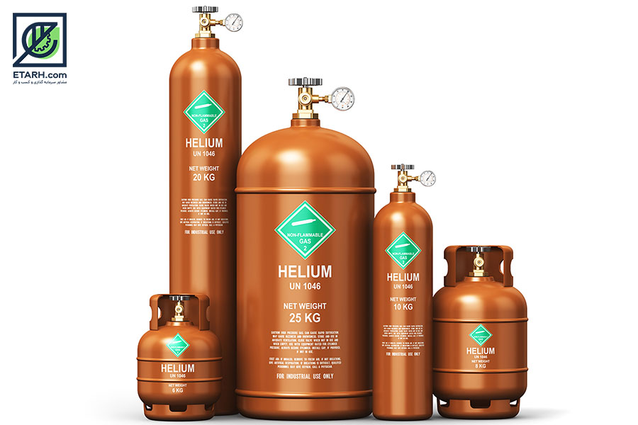 تولید گاز هلیوم