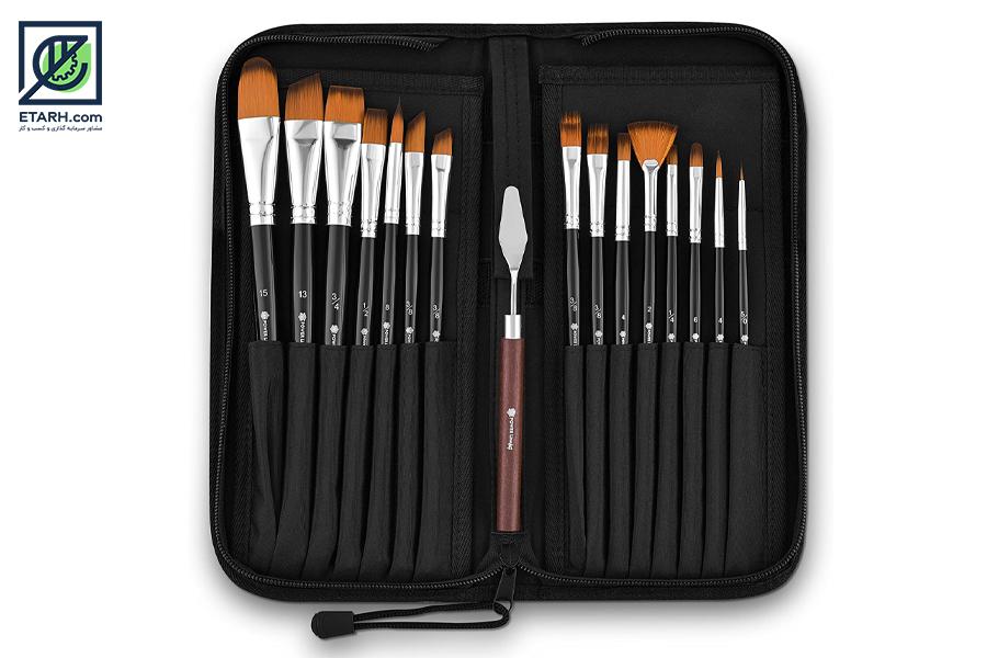 طرح تولید انواع قلم مو نقاشی